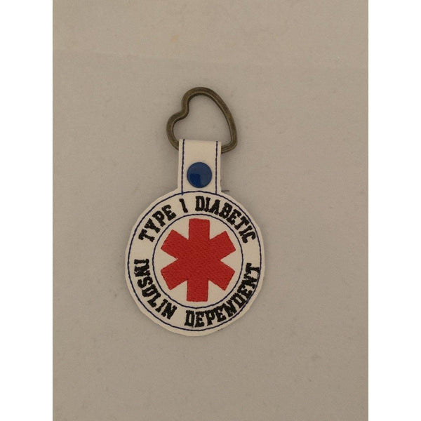 Diabetic Leather Keyring - NotInTheMalls