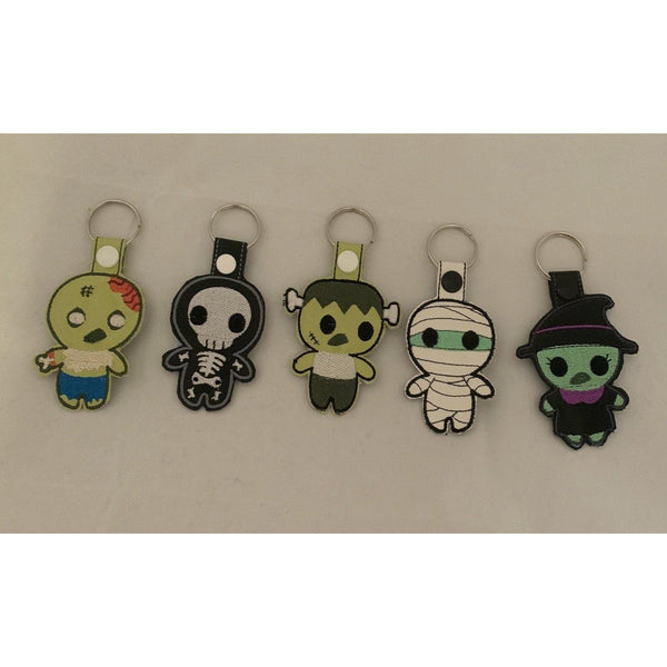 Monster, Mummy and witch Halloween Leather Keyrings - NotInTheMalls