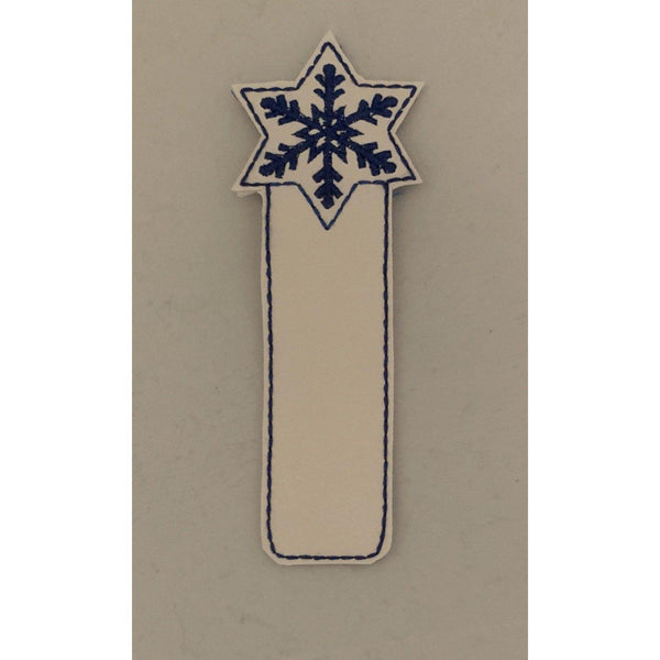 Snowflake Leather Bookmark - NotInTheMalls