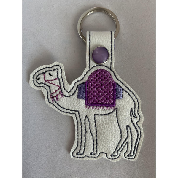 Camel leatherette key rings or bag tags - NotInTheMalls