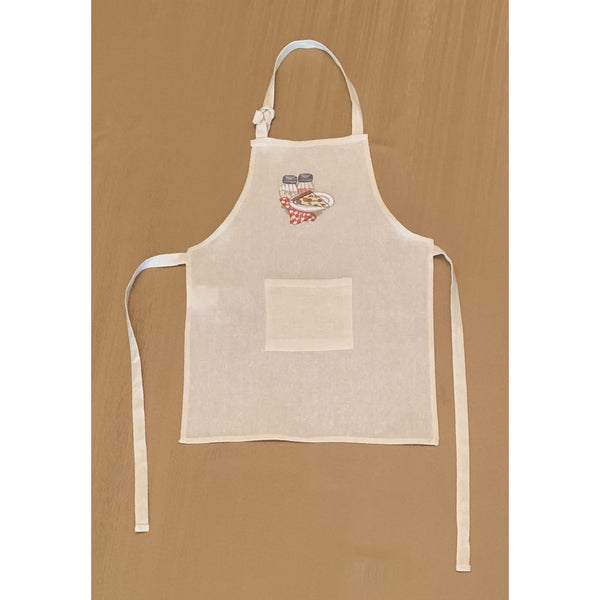 Children's Embroidered Beige Aprons - NotInTheMalls