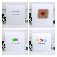 Pack of 3 or 6 Unique Handmade Cards