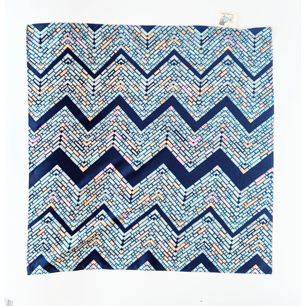 Navy Zig Zag Furoshiki Fabric Gift Wrap - NotInTheMalls