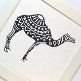 Mosaic Patterned Camel Print - Mounted, unframed - NotInTheMalls