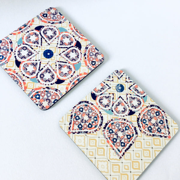 Mosaic Patterned Coaster Set - Set of 4 Coasters - NotInTheMalls