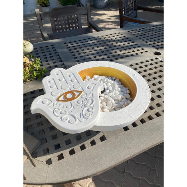 Extra Large Table top Golden fire pit - NotInTheMalls