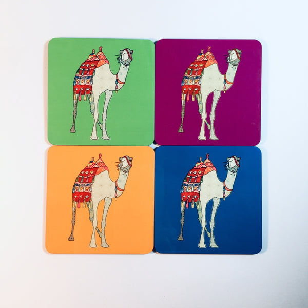Set of 4 Camel Design Drinks Coasters - NotInTheMalls