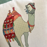 Patchwork Camel Cushion - NotInTheMalls