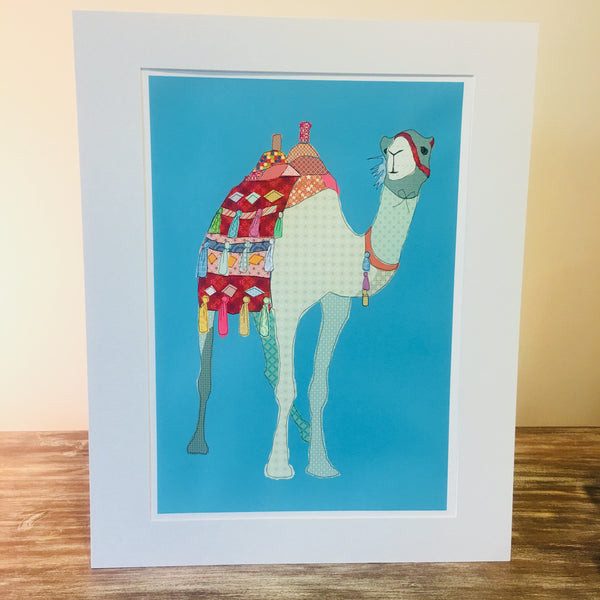 Patchwork Camel Print - Mounted unframed - NotInTheMalls