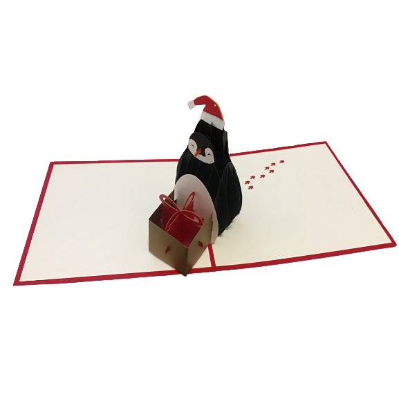 Penguin Pop Up Card - NotInTheMalls