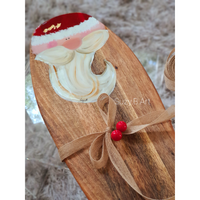 Festive Cheese Board with Santa Head - NotInTheMalls
