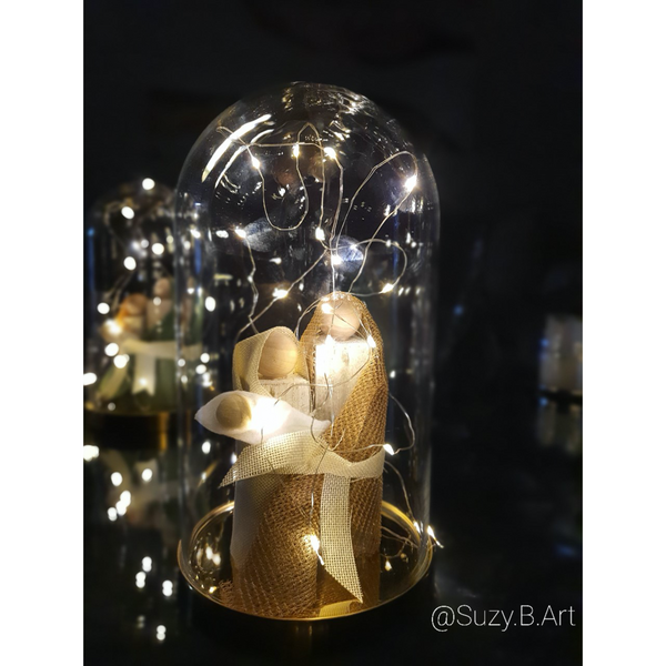 Handmade Nativity Set in Glass Dome - NotInTheMalls