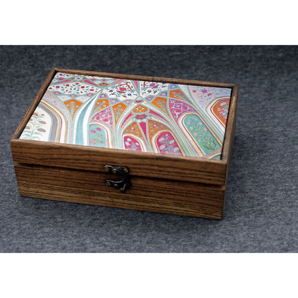 """Raj Splendor"" Handmade Ash Wood Box - NotInTheMalls"