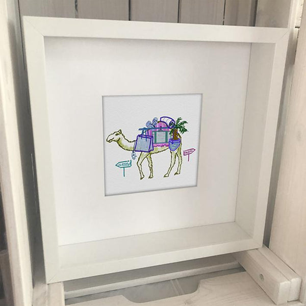 Travel Camel Dubai Artwork by Rare Find - NotInTheMalls