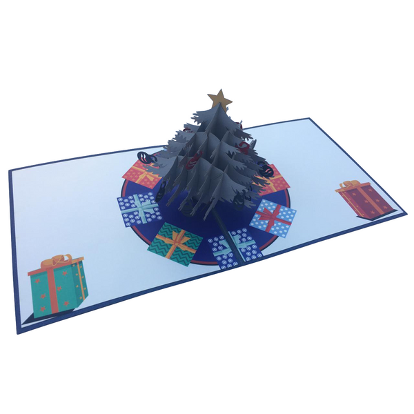 Silver Christmas Tree Pop Up Card - NotInTheMalls