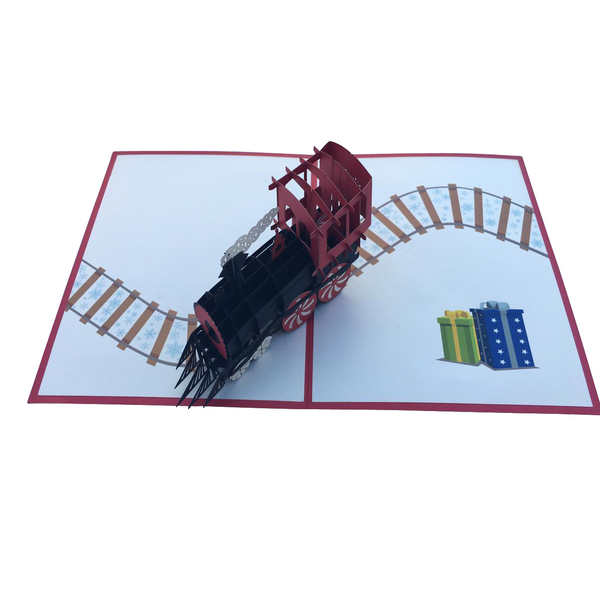 Santas Train Pop Up Card - NotInTheMalls