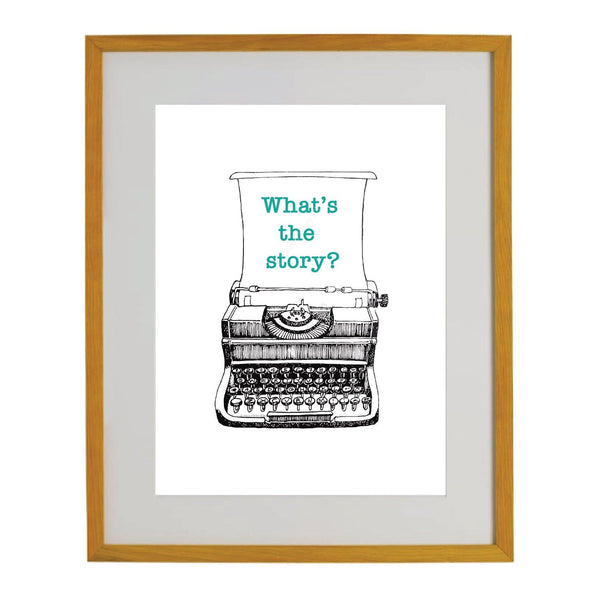 Vintage Typewriter Print - NotInTheMalls