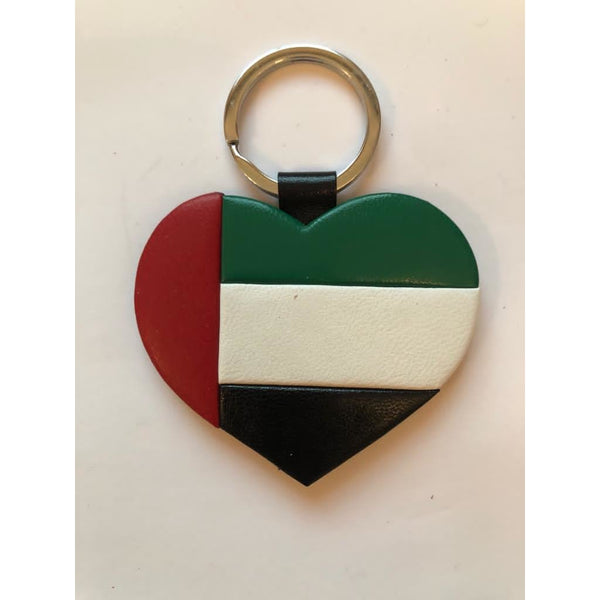 UAE Heart Leather Keychain - NotInTheMalls