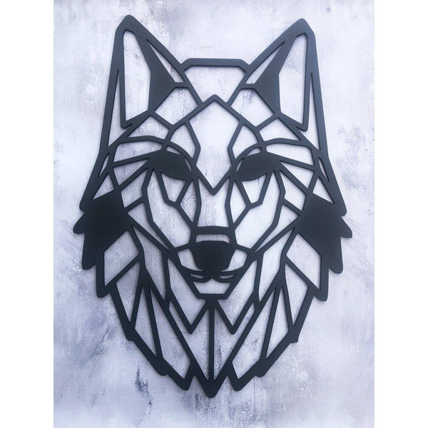 Wooden Wall Art Wolf Head - NotInTheMalls