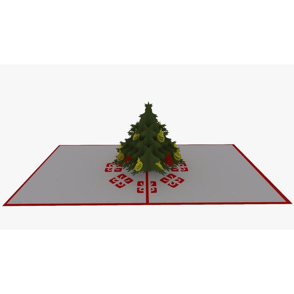 Green Christmas Tree Pop Up Card - NotInTheMalls