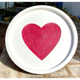 Valentines Day Cement Platters
