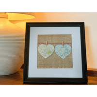 Personalised Map Hearts - NotInTheMalls