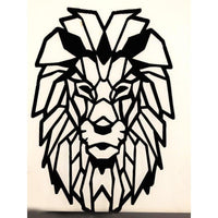 Wooden Wall Art Lions Head - NotInTheMalls