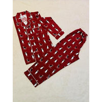 Collared and Button down Pyjamas - Red Penguin - NotInTheMalls