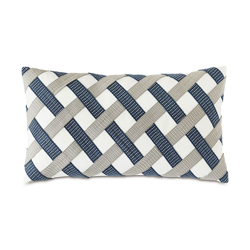 Saya Basketweave Pillow - Home Basics Panamá