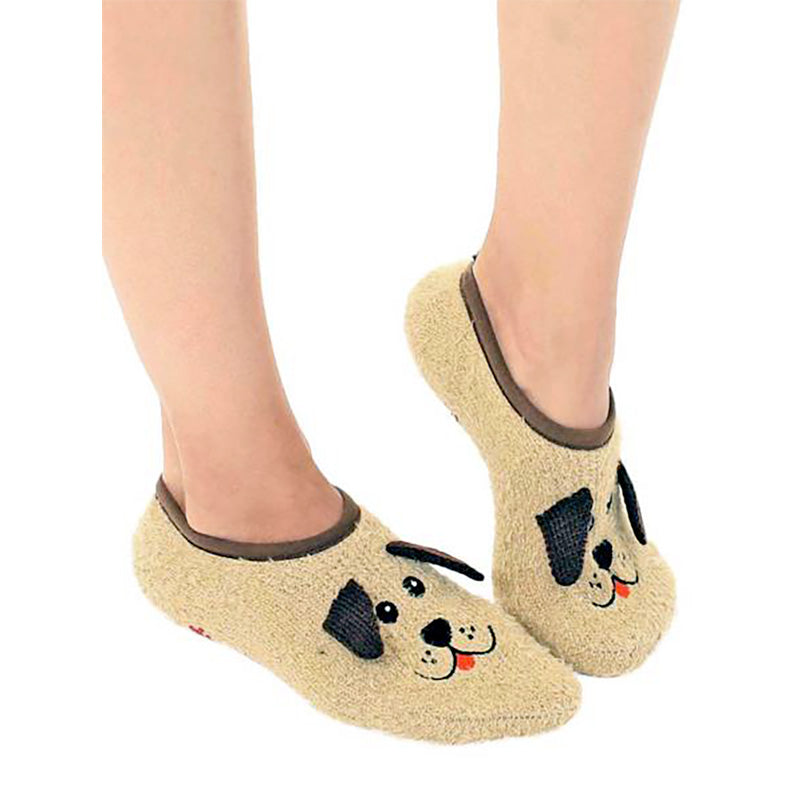 Puppy Fuzzy Slippers - Home Basics Panamá