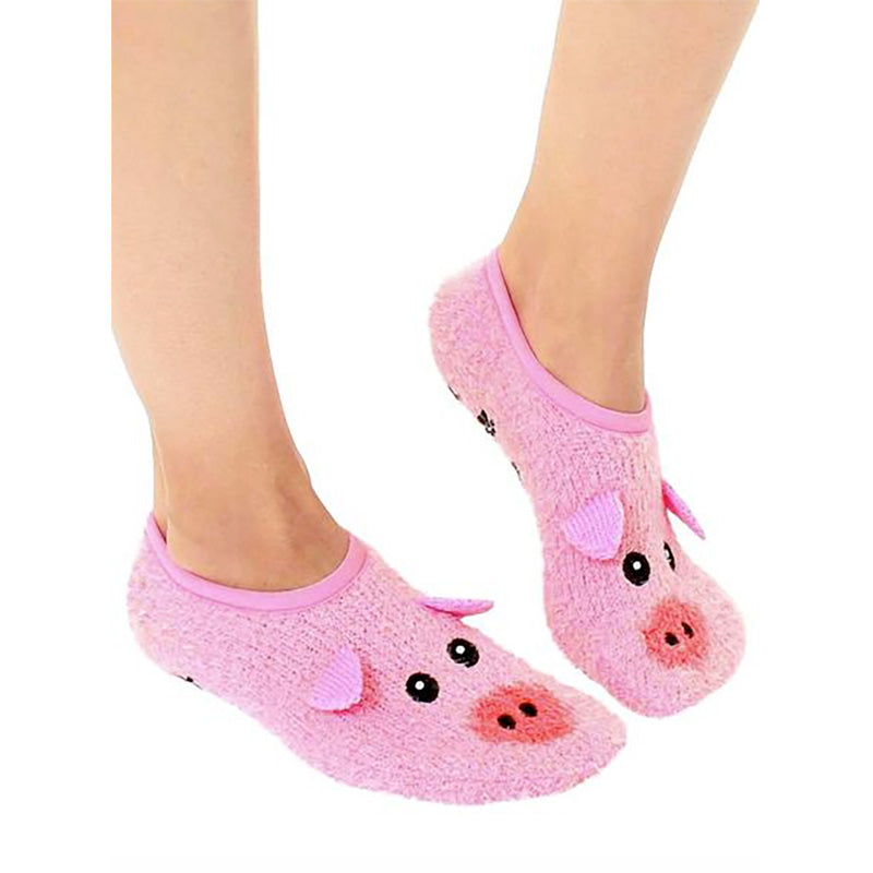 Pig Fuzzy Slippers - Home Basics Panamá