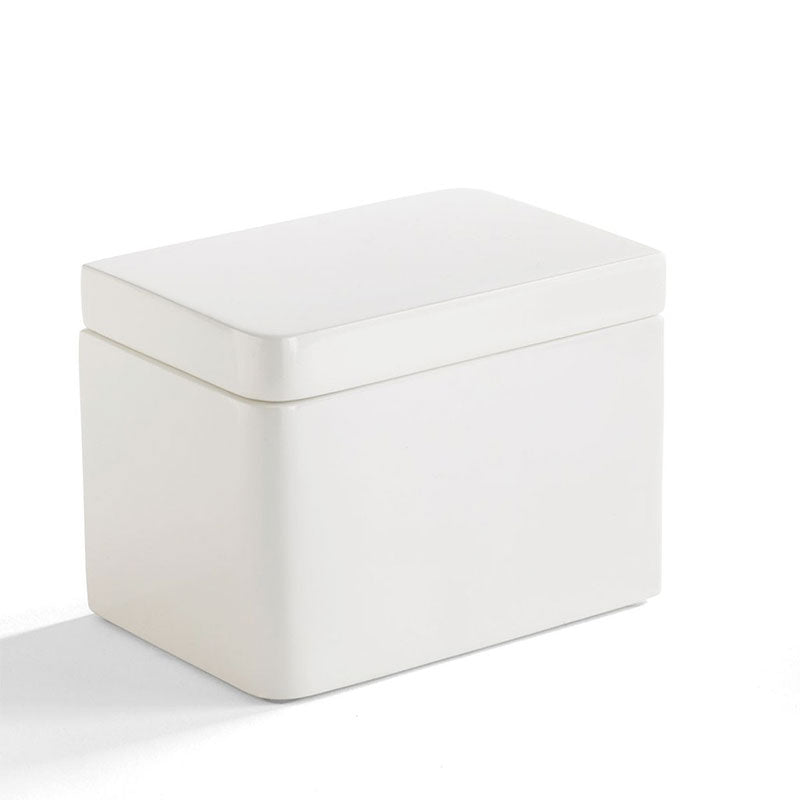 Lacquer White Cotton Jar