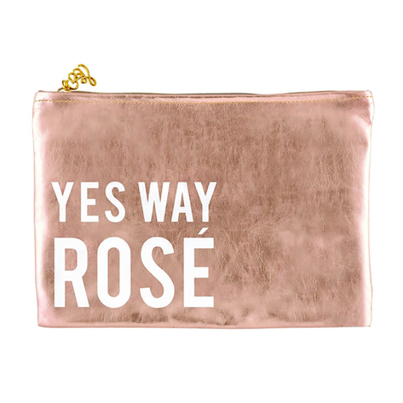 Rose Gold Pouch Yes Way - Home Basics Panamá