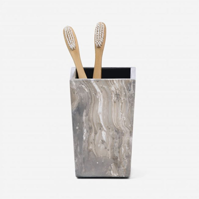 Vigo Gray Brush Holder - Home Basics Panamá