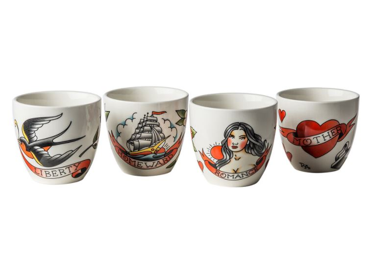 Load image into Gallery viewer, CUPS - TATTOO - SET OF 4