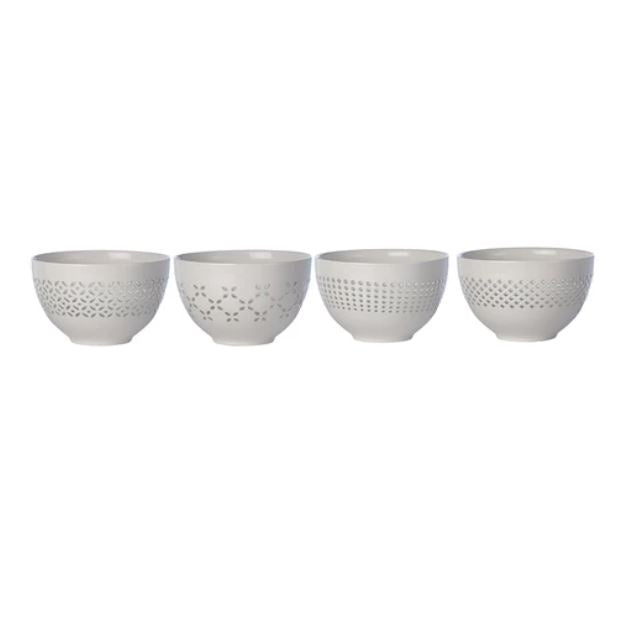 BOWL - PEIRCED SNACK - SET OF 4