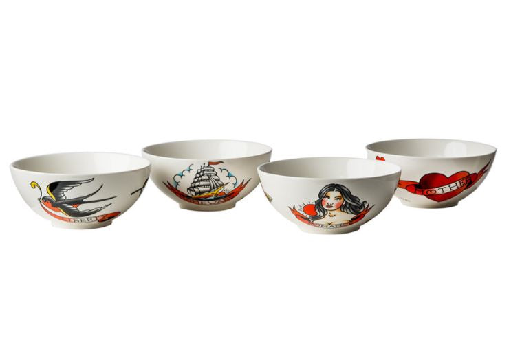 BOWL - SALAD TATTOO - SET OF 4