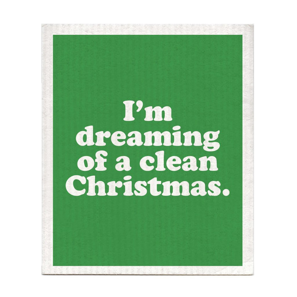 DISHCLOTH - I'M DREAMING OF A CLEAN CHRISTMAS
