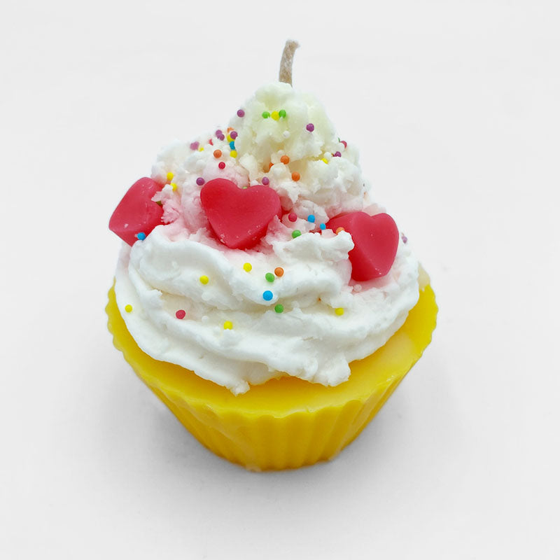 Load image into Gallery viewer, CANDLE - CUPCAKE - LEMON