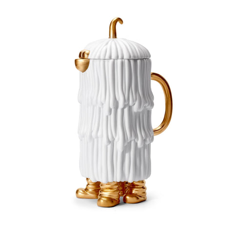 HAAS DJUNA COFFEE/TEA POT WHITE&GOLD