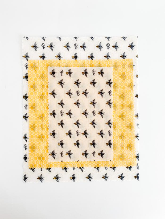 FOOD WRAP - HONEY BEES SET OF 3