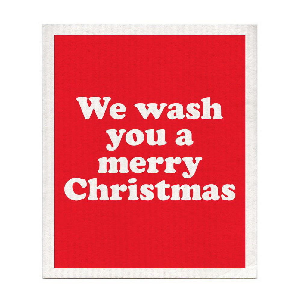 DISHCLOTH - WE WASH YOU A MERRY CHRISTMAS