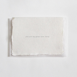 CARD - YOU ARE MY GREAT LOVE STORY - MINI