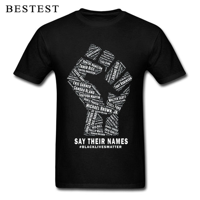 Rebel Men Black Lives Matter/Say Their Names T-shirt