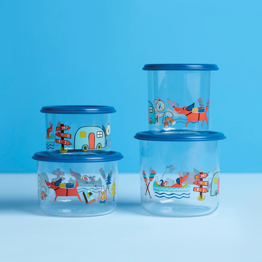 Good Lunch Snack Containers | Happy Camper | Small