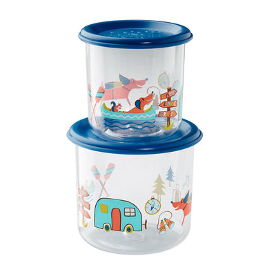 Good Lunch Snack Containers | Happy Camper | Large
