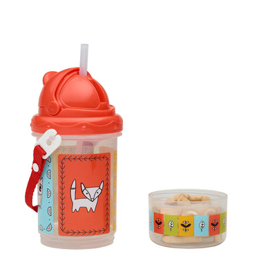 Flip & Sip Snacker | Meadow Friends Red Lid