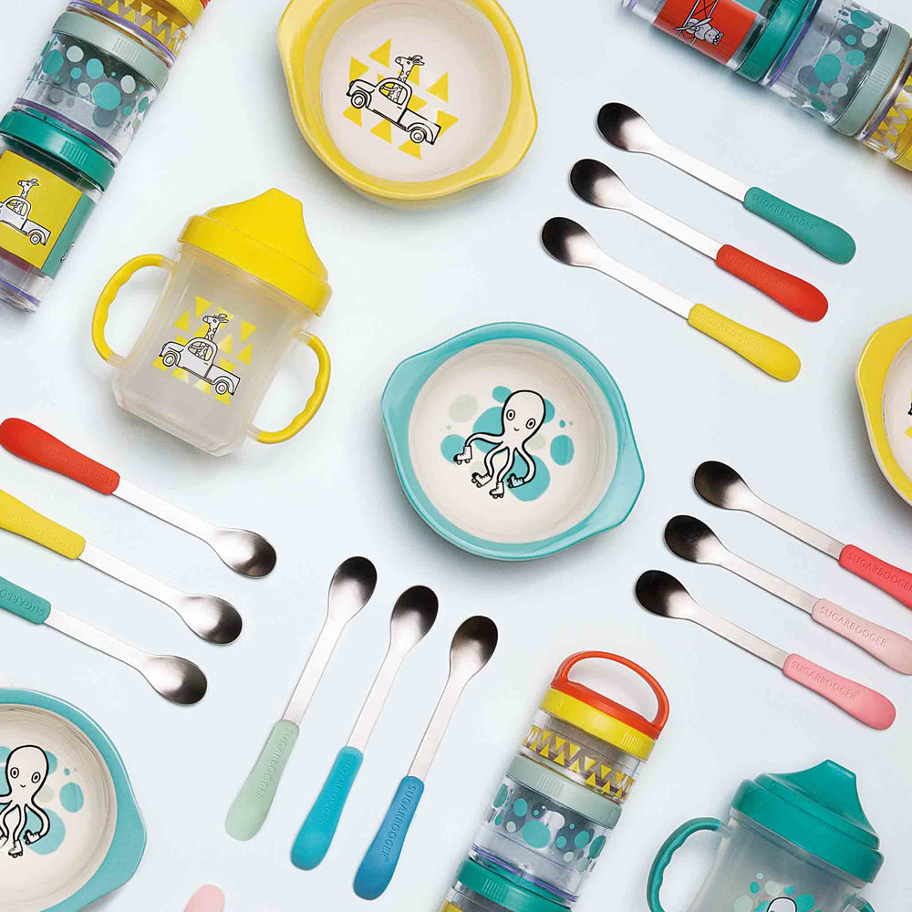 Lil' Bitty Spoon Set | Baby Blue