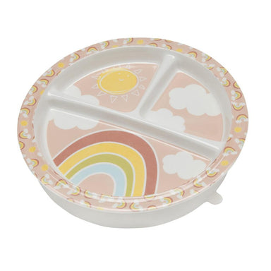 Divided Suction Plate | Rainbows & Sunshine