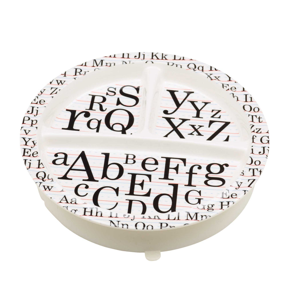 Divided Suction Plate | Vintage Alphabet